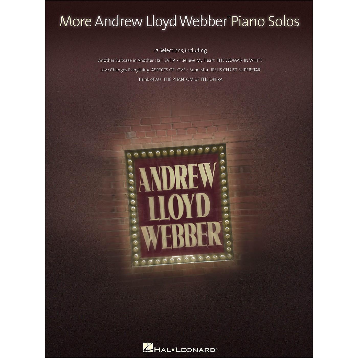 Hal Leonard More Andrew Lloyd Webber Piano Solos thumbnail