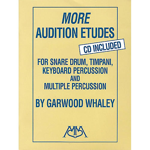 Meredith Music More Audition Etudes for Snare Drum, Timpani, Keyboard Percussion and Multiple Percussion Book/CD thumbnail