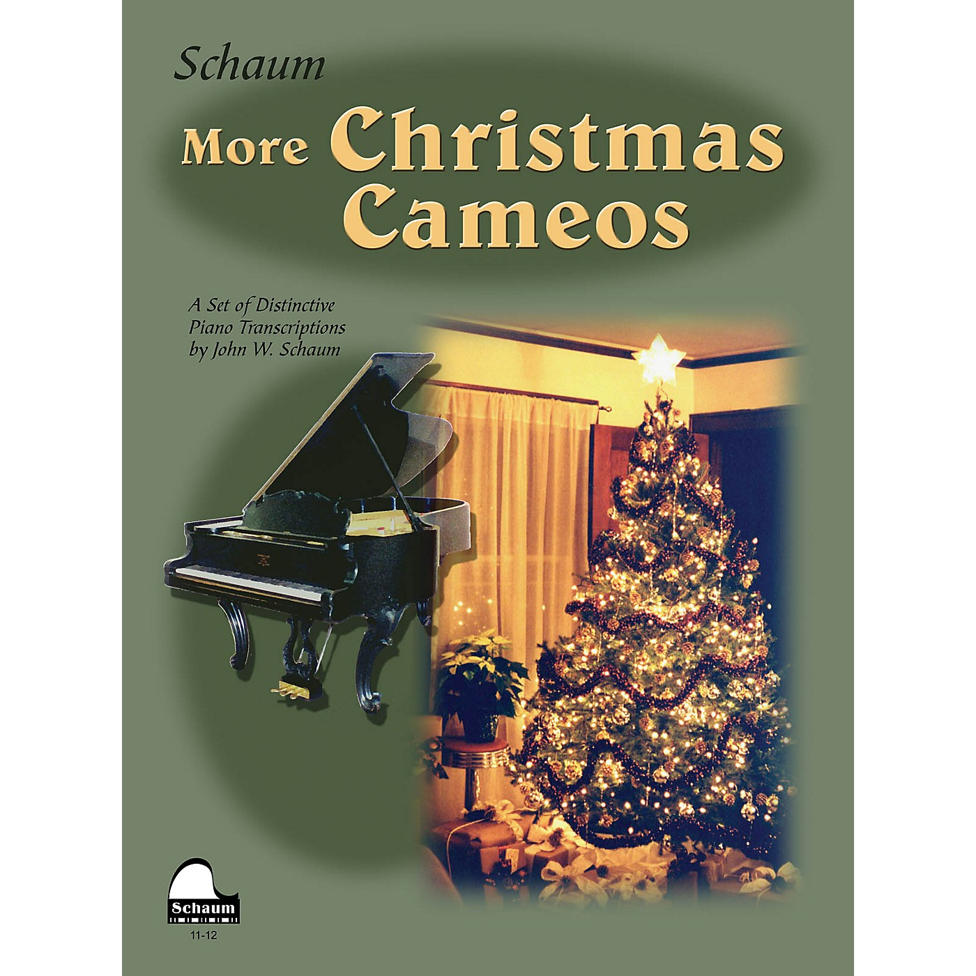 SCHAUM More Christmas Cameos (Level 6 Early Advanced Level) Educational Piano Book thumbnail