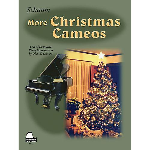SCHAUM More Christmas Cameos (Level 6 Early Advanced Level) Educational Piano Book thumbnail