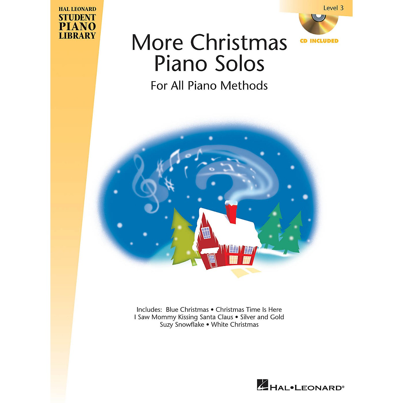 Hal Leonard More Christmas Piano Solos - Level 3 Piano Library Series Book with CD thumbnail