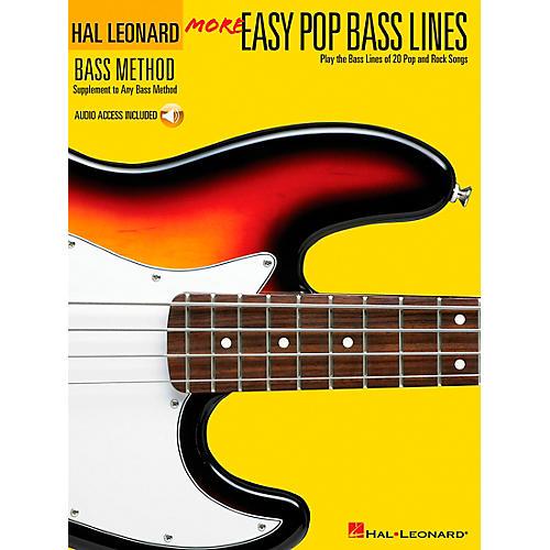Hal Leonard More Easy Pop Bass Lines (Book/CD) thumbnail