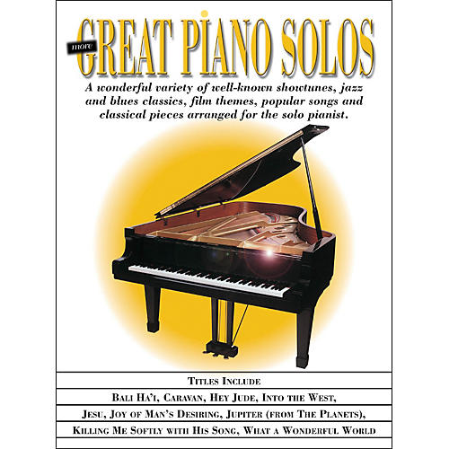 Hal Leonard More Great Piano Solos - Showtunes, Jazz, Blues, Film, Popular, Classical arranged for piano solo thumbnail