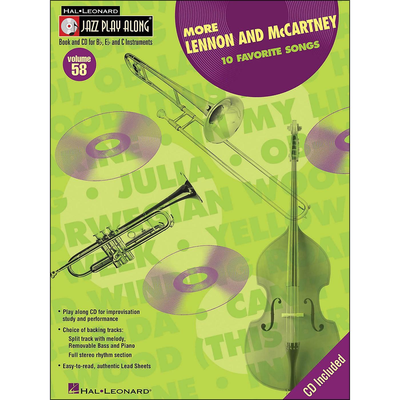 Hal Leonard More Lennon & McCartney Volume 58 Book/CD Jazz Play Along thumbnail