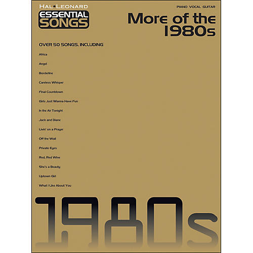 Hal Leonard More Of The 1980s - Essential Songs arranged for piano, vocal, and guitar (P/V/G) thumbnail