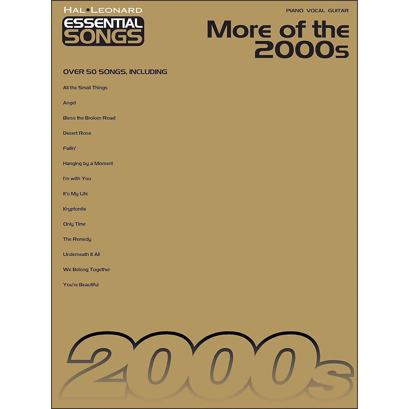 Hal Leonard More Of The 2000s - Essential Songs arranged for piano, vocal, and guitar (P/V/G) thumbnail