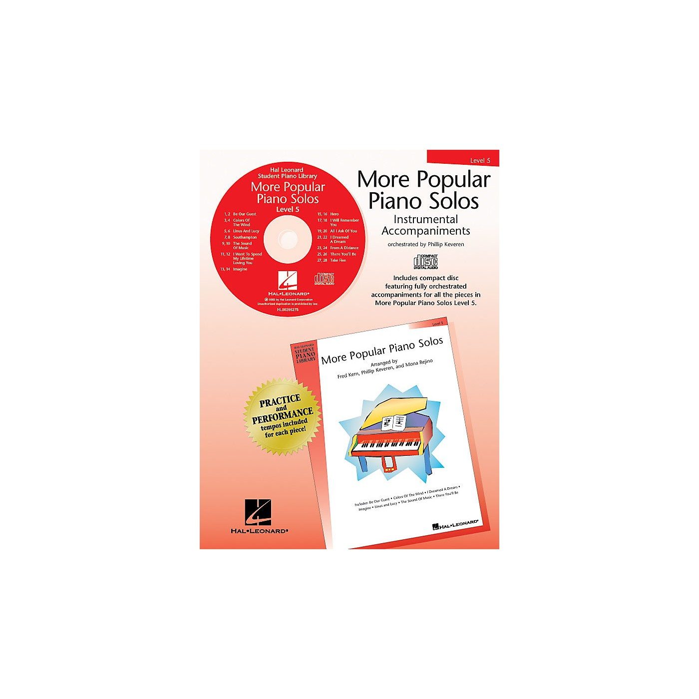 Hal Leonard More Popular Piano Solos - Level 5 - CD Piano Library Series CD by Various thumbnail