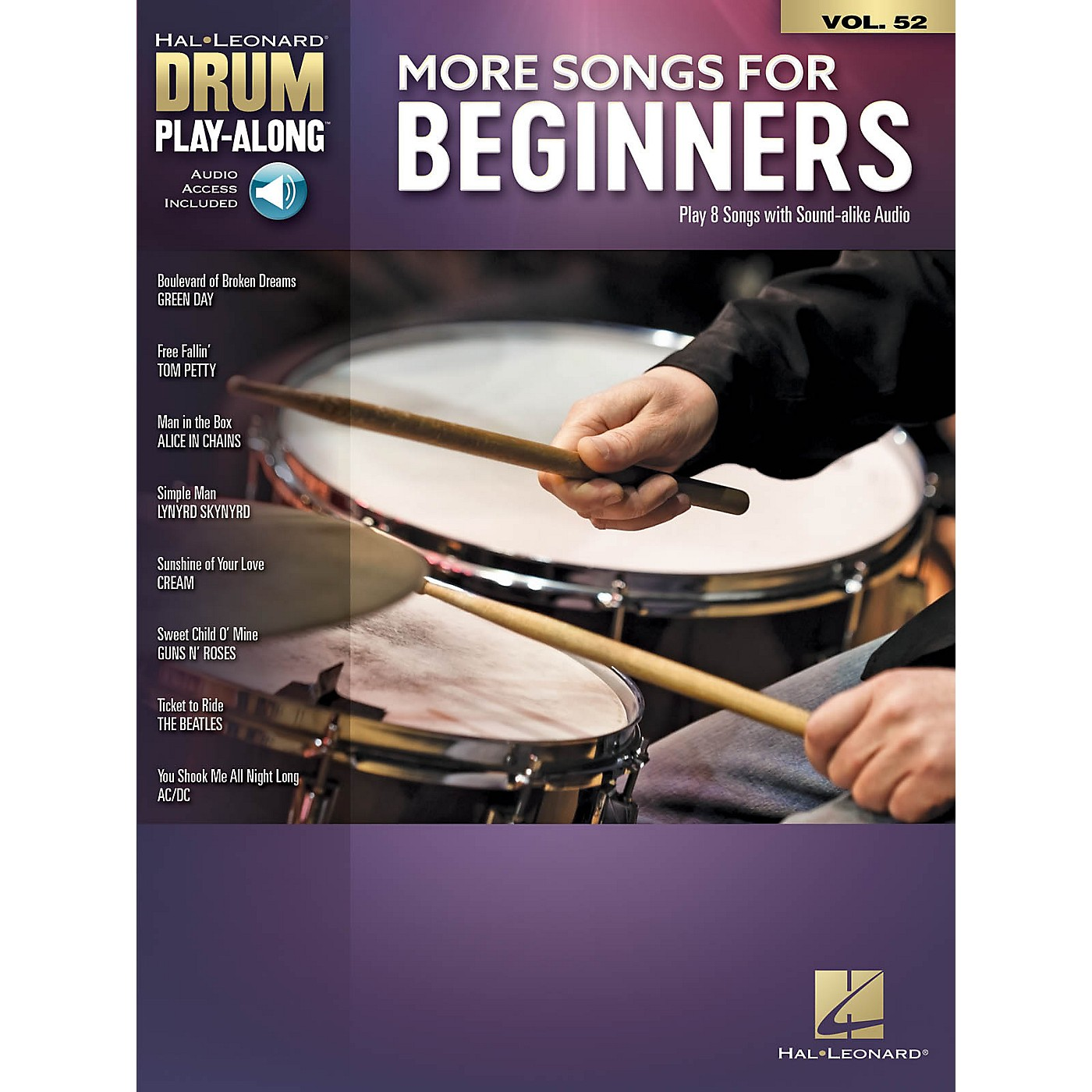 Hal Leonard More Songs for Beginners Drum Play-Along Book/Audio Online thumbnail
