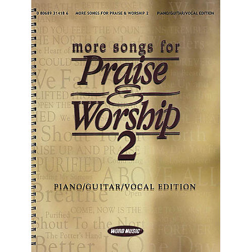 Word Music More Songs for Praise & Worship 2 Piano, Vocal, Guitar Songbook thumbnail