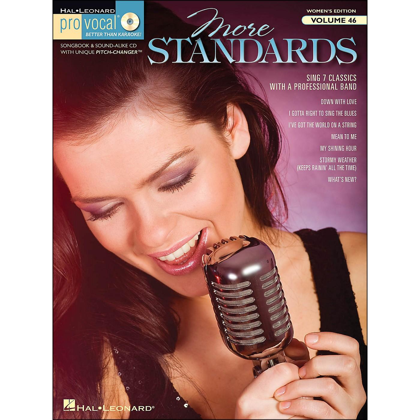 Hal Leonard More Standards - Pro Vocal Songbook & CD for Female Singers Volume 46 thumbnail
