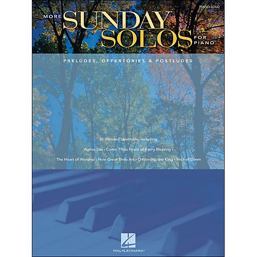 Hal Leonard More Sunday Solos for Piano - Preludes, Offertories & Postludes arranged for piano solo thumbnail