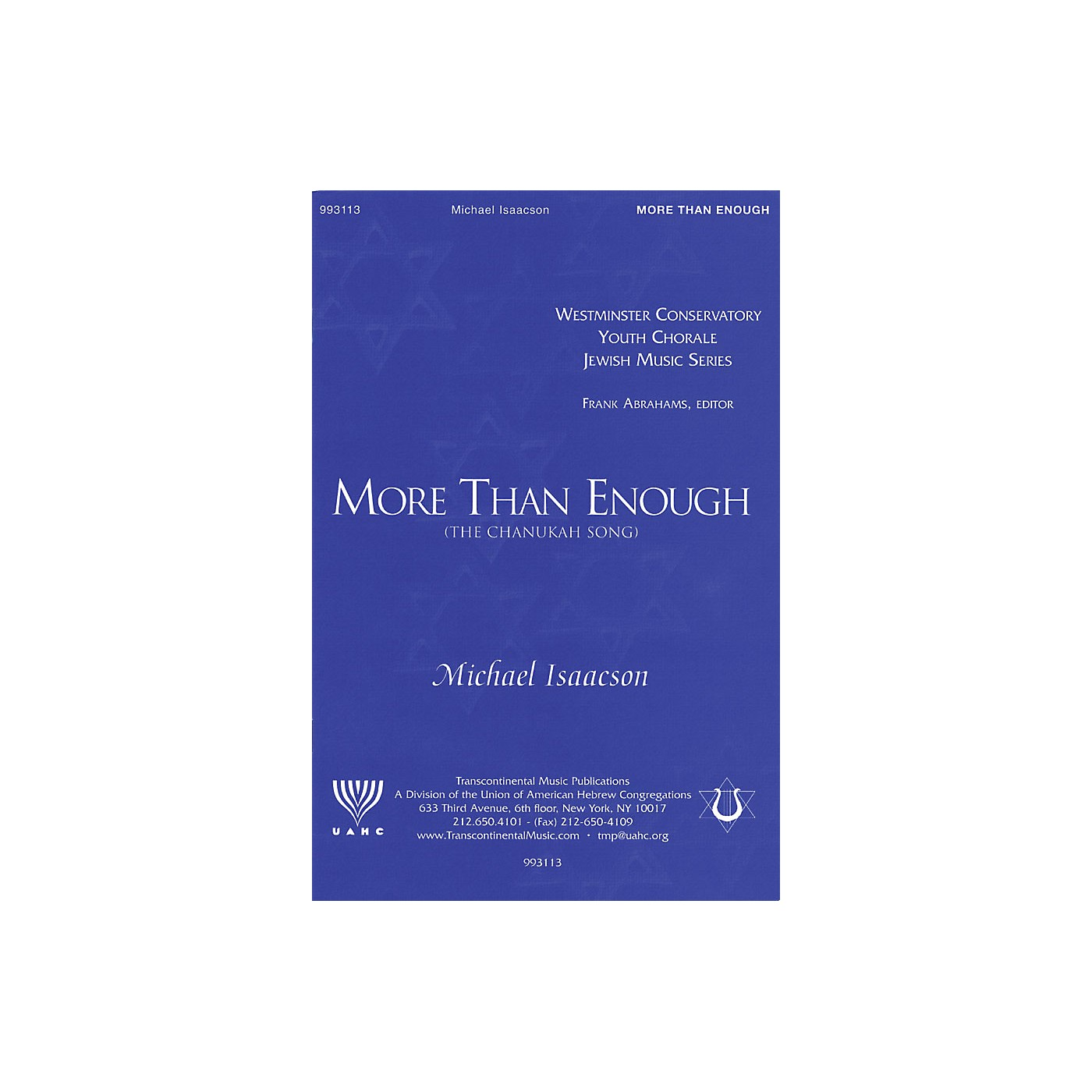Transcontinental Music More Than Enough (The Chanukah Song) SATB composed by Michael Isaacson thumbnail