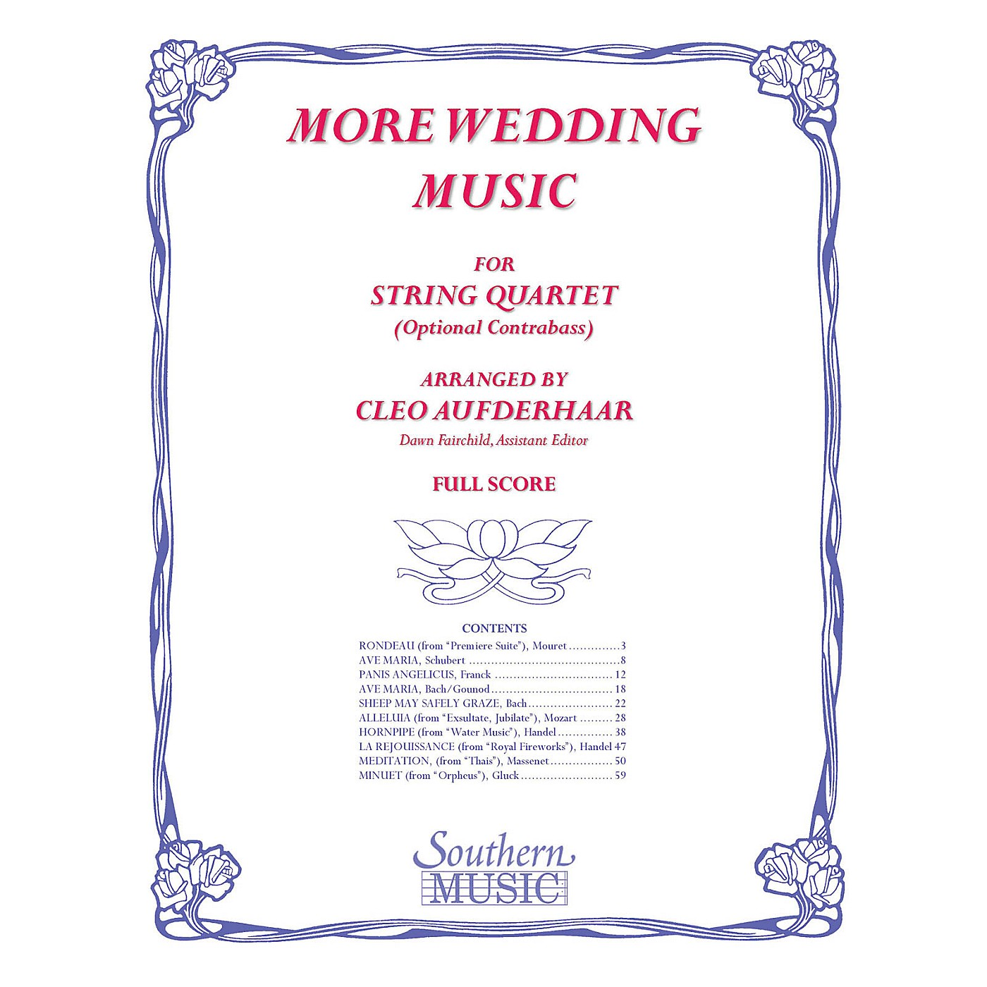 Southern More Wedding Music (Conductor Score) Southern Music Series Arranged by Cleo Aufderhaar thumbnail