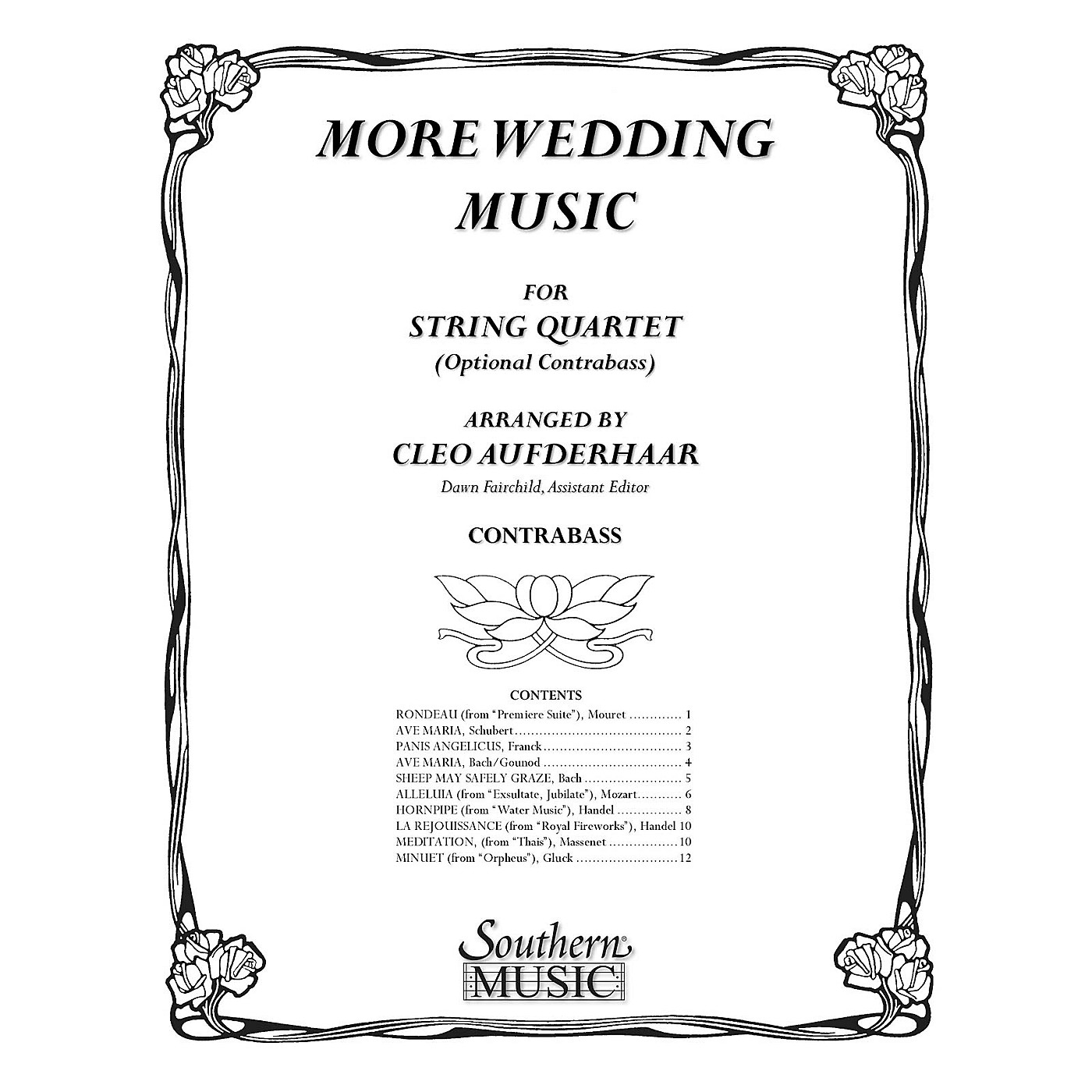Southern More Wedding Music Southern Music Series Arranged by Cleo Aufderhaar thumbnail
