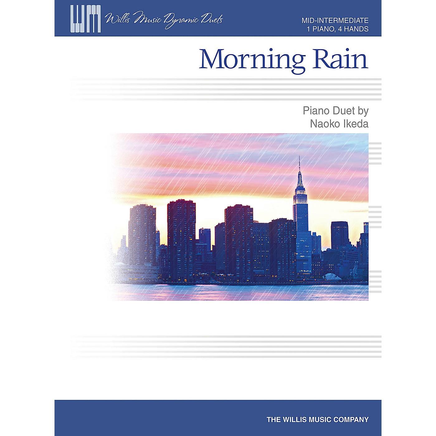 Willis Music Morning Rain (Mid-Inter Level 1 Piano, 4 Hands) Willis Series by Naoko Ikeda thumbnail