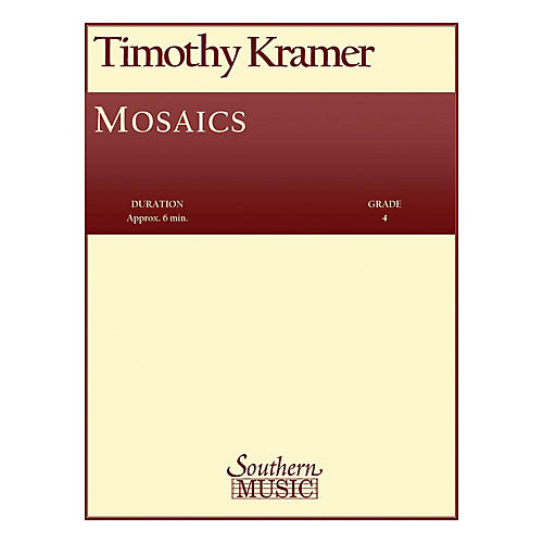 Southern Mosaics (Band/Concert Band Music) Concert Band Level 4 Composed by Timothy Kramer thumbnail