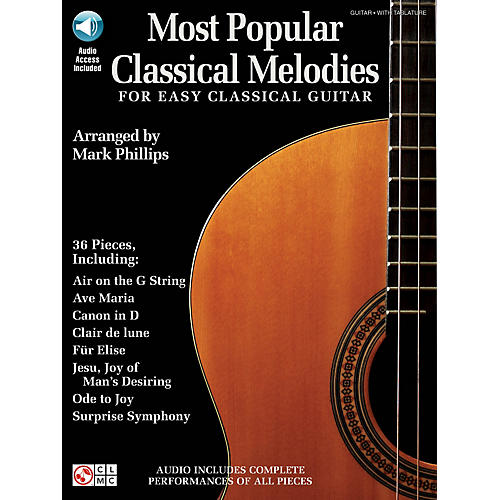 Cherry Lane Most Popular Classical Melodies for Easy Classical Guitar Guitar Series Softcover Audio Online thumbnail
