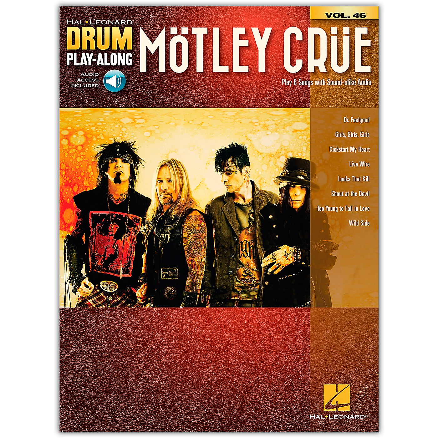 Hal Leonard Motley Crue (Drum Play-Along Volume 46) Drum Play-Along Series Softcover Audio Online by Motley Crue thumbnail