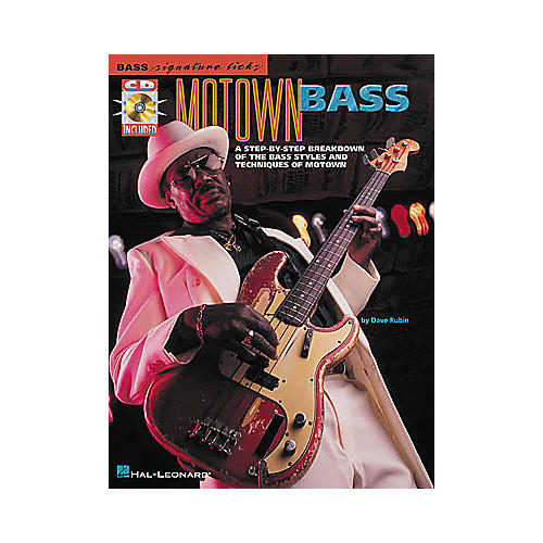 Hal Leonard Motown Bass Signature Licks Book with CD-thumbnail