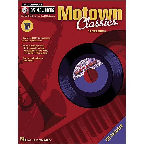 Hal Leonard Motown Classics - Jazz Play-Along Volume 107 (CD/Pkg) thumbnail