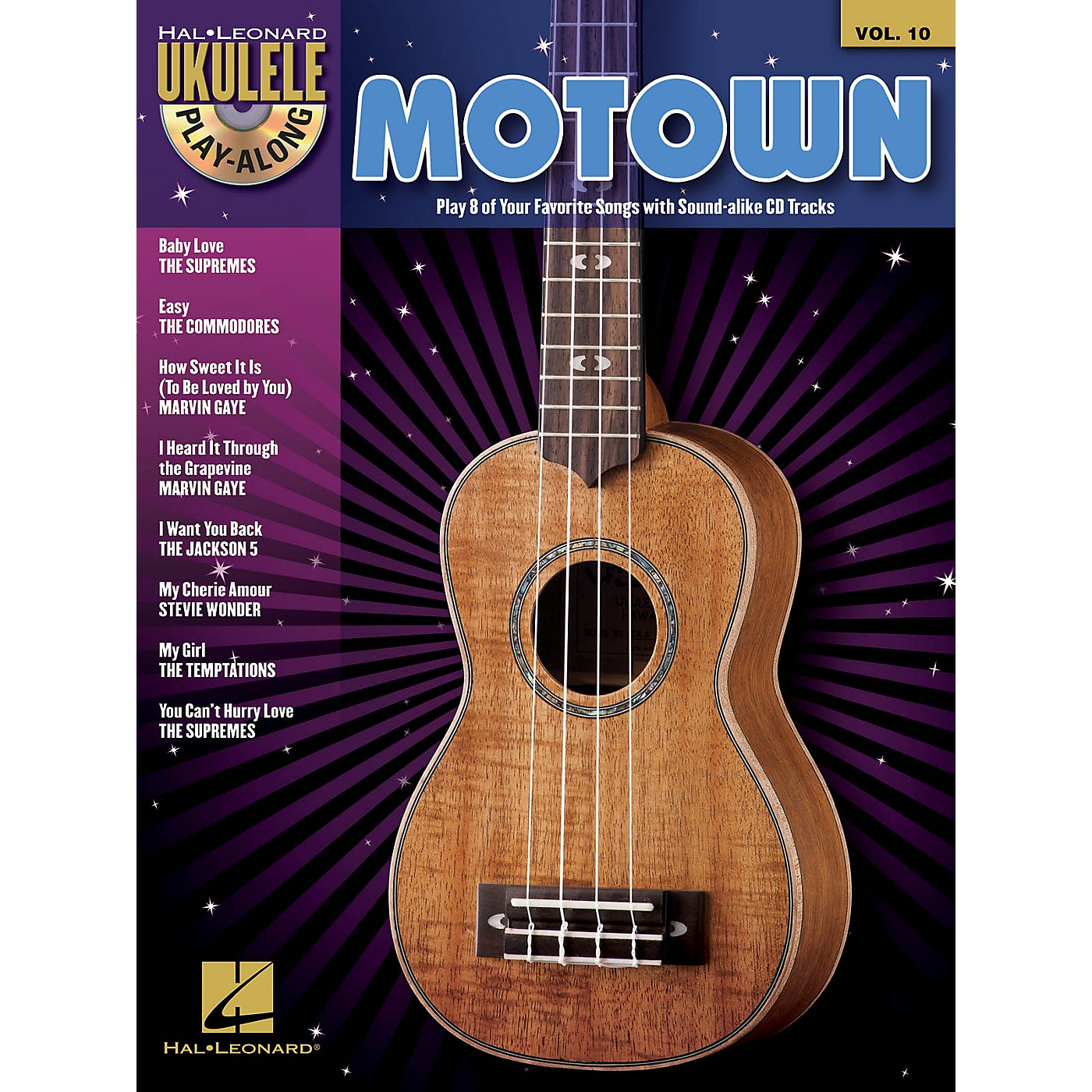 Hal Leonard Motown (Ukulele Play-Along Volume 10) Ukulele Play-Along Series Softcover with CD Performed by Various thumbnail