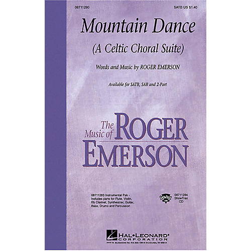 Hal Leonard Mountain Dance (A Celtic Choral Suite) SATB composed by Roger Emerson thumbnail
