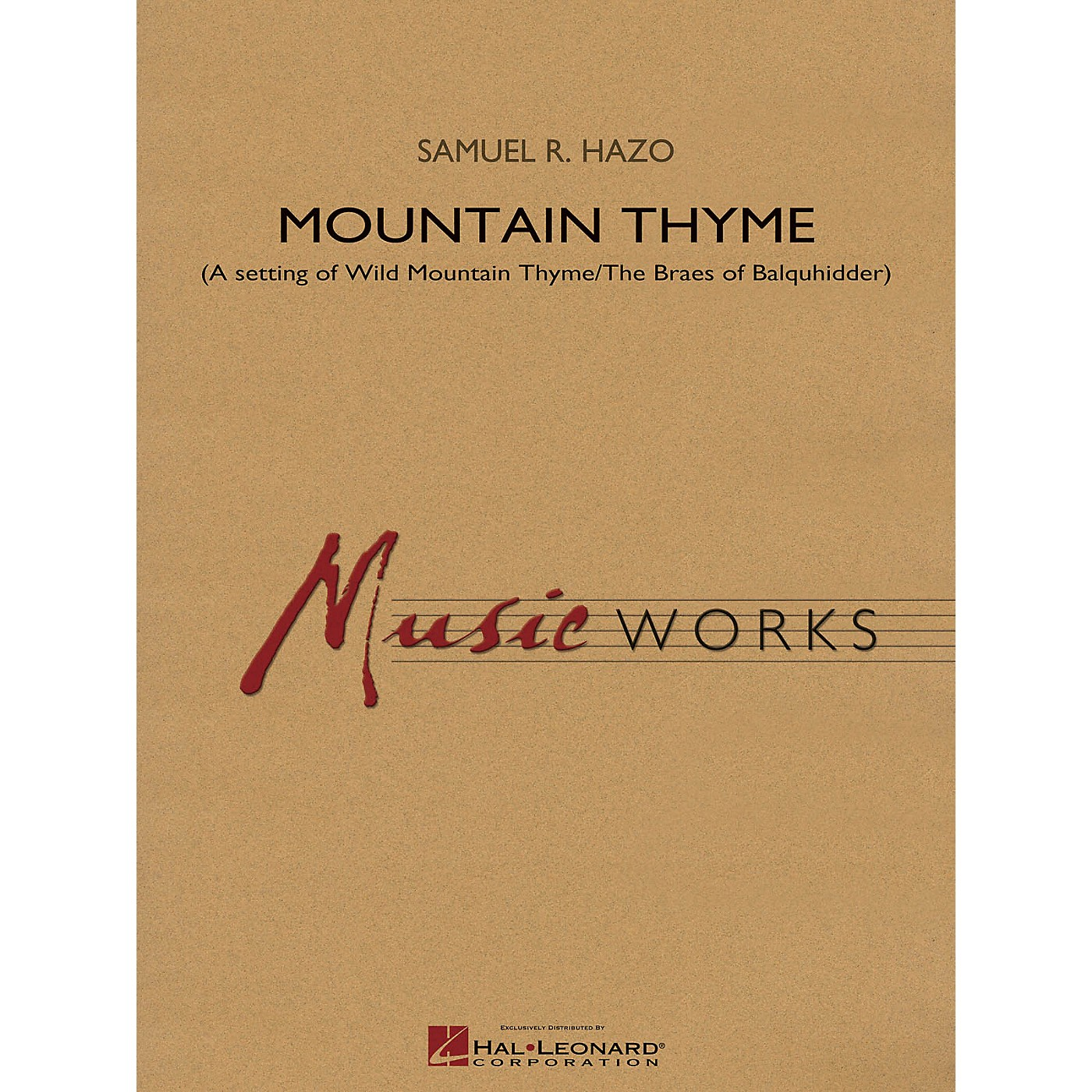 Hal Leonard Mountain Thyme Concert Band Level 4 Composed by Samuel R. Hazo thumbnail