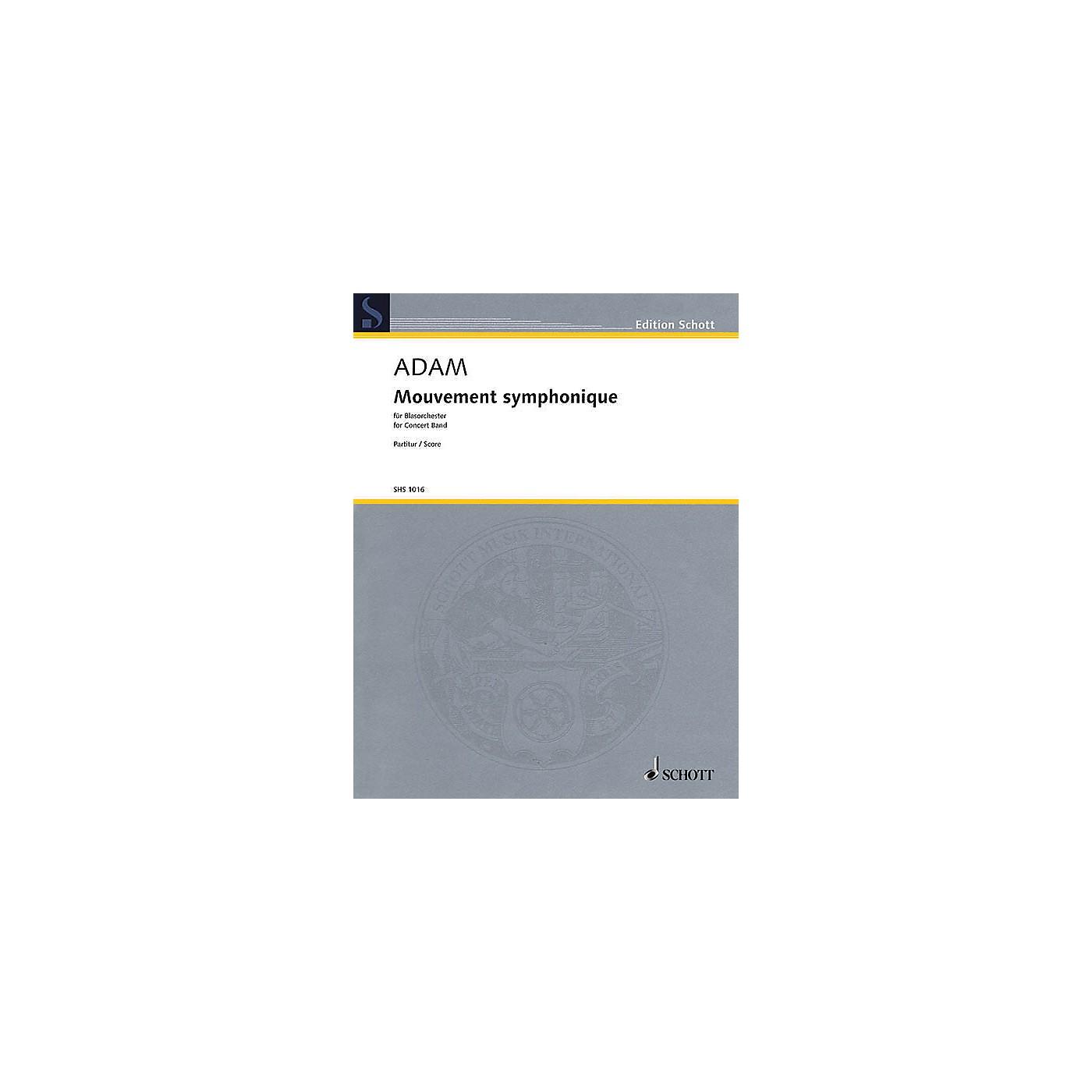 Schott Mouvement Symphonique (for Concert Band - Score) Concert Band Composed by Stephan Adam thumbnail
