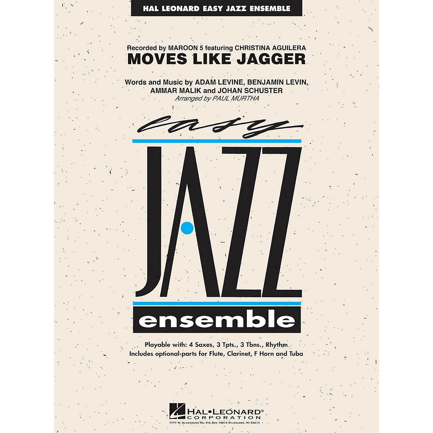 Hal Leonard Moves Like Jagger Jazz Band Level 2 by Maroon 5 Arranged by Paul Murtha thumbnail