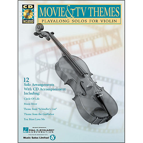 Hal Leonard Movie And TV Themes Playalong Solos for Violin Book/CD Pkg thumbnail