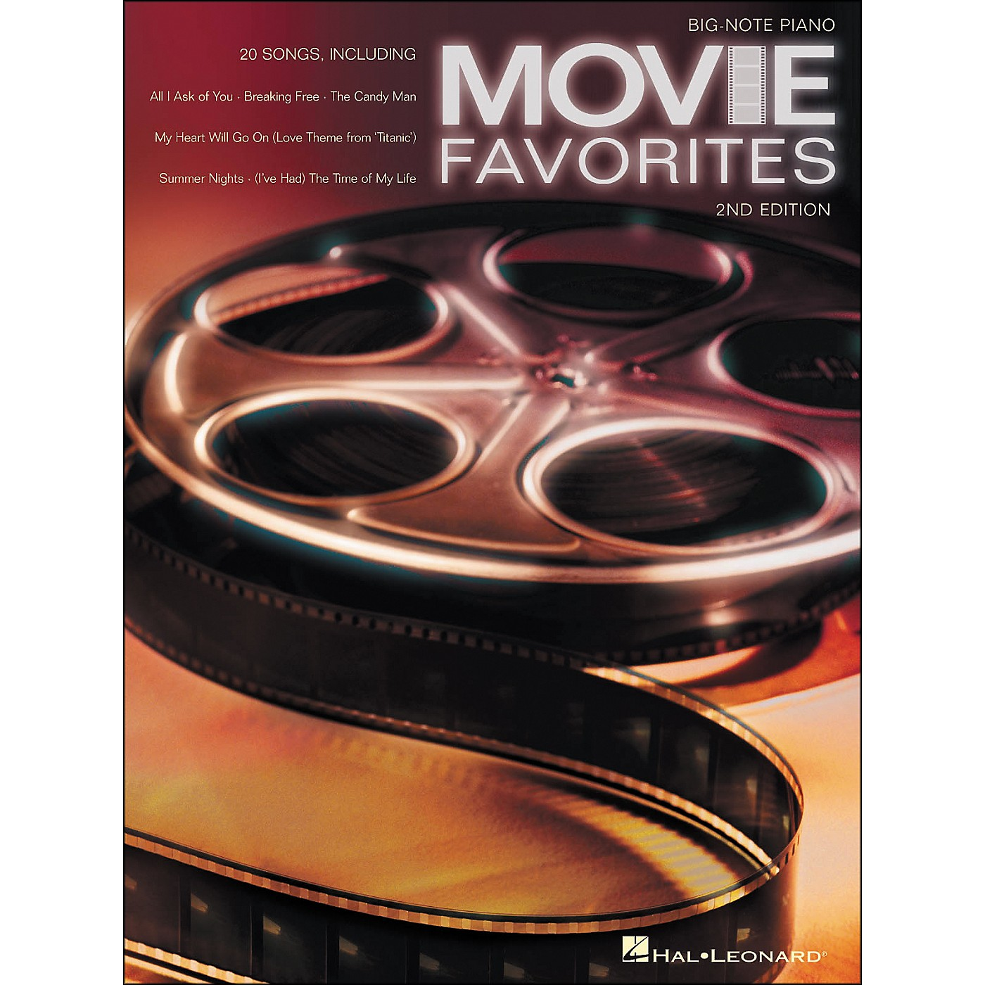 Hal Leonard Movie Favorites for Big Note Piano 2nd Edition thumbnail