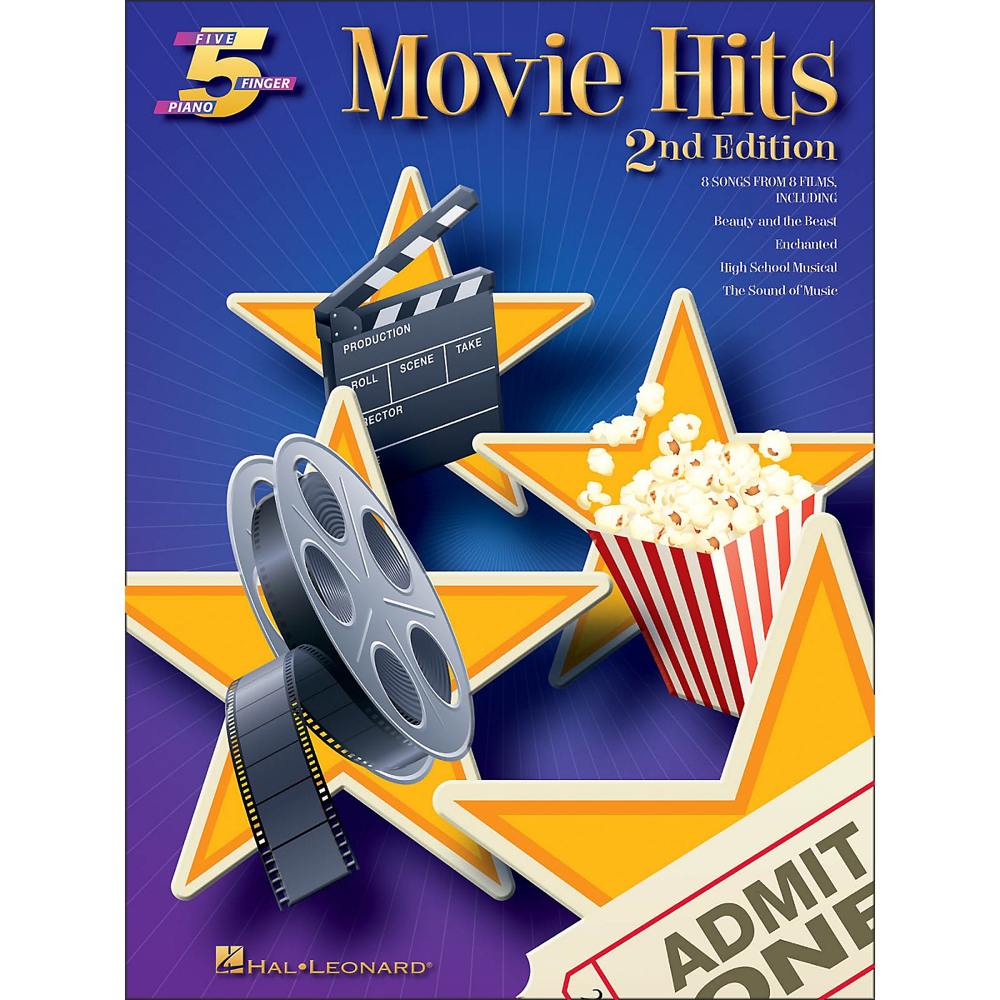 Hal Leonard Movie Hits for Five Finger Piano 2nd Edition thumbnail