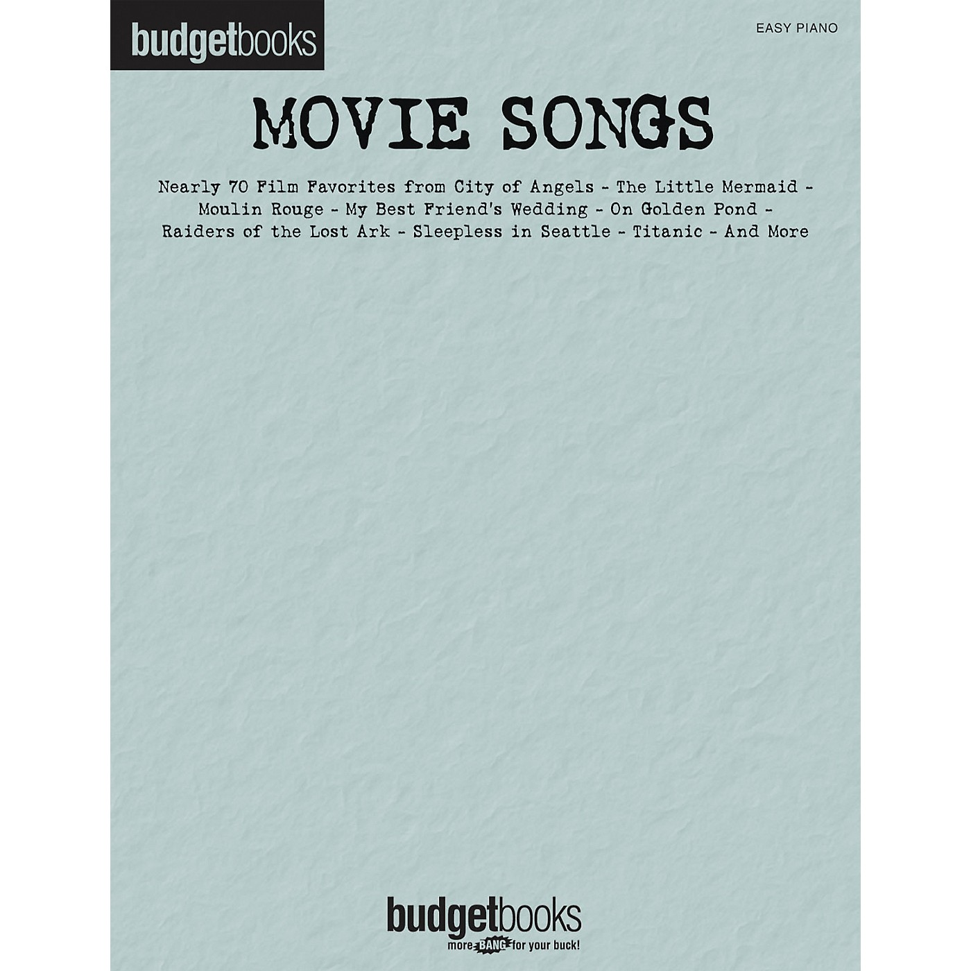 Hal Leonard Movie Songs - Budget Book Series For Easy Piano thumbnail