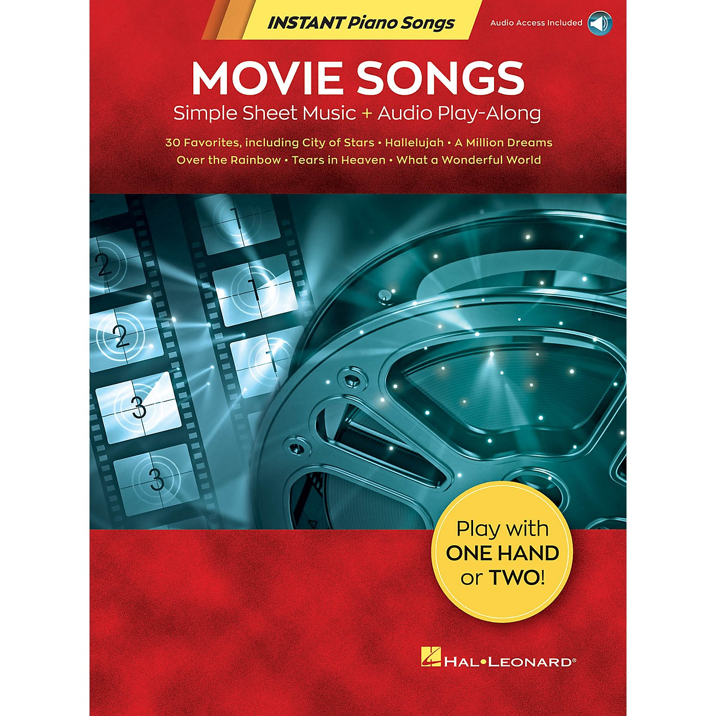 Hal Leonard Movie Songs - Instant Piano Songs - Simple Sheet Music Plus Audio Play-Along Book/Audio Online thumbnail