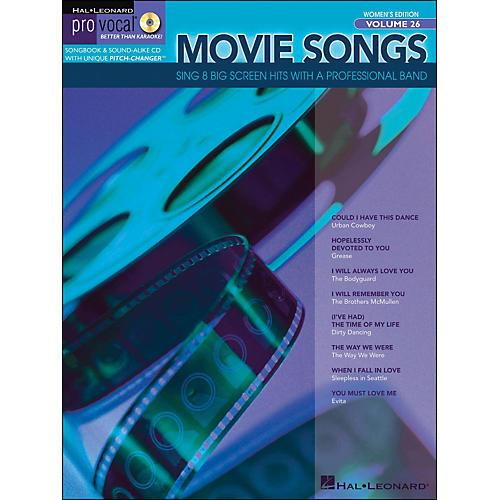 Hal Leonard Movie Songs Pro Vocal Series Women's Edition Volume 26 Book/CD thumbnail