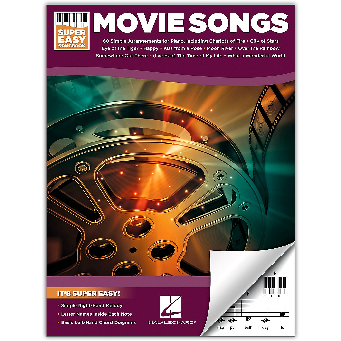 Hal Leonard Movie Songs-Super Easy Songbook for Piano thumbnail