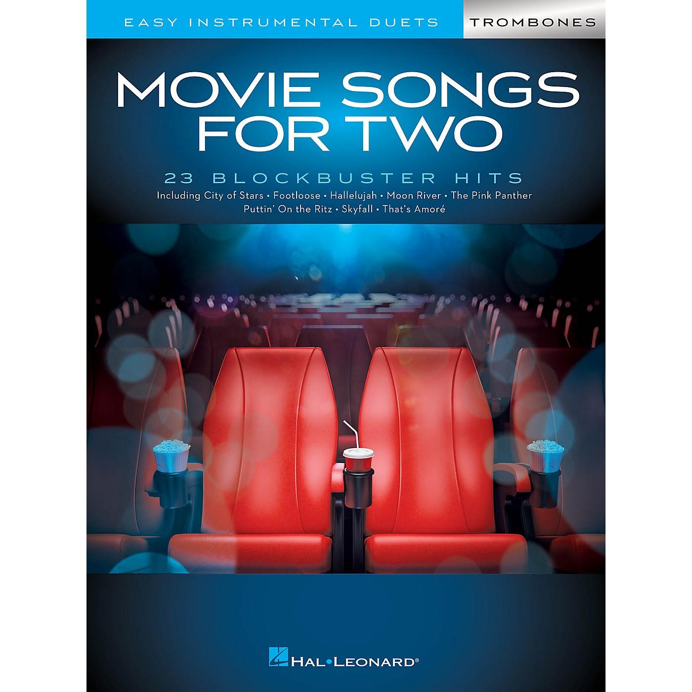 Hal Leonard Movie Songs for Two Trombones - Easy Instrumental Duets thumbnail