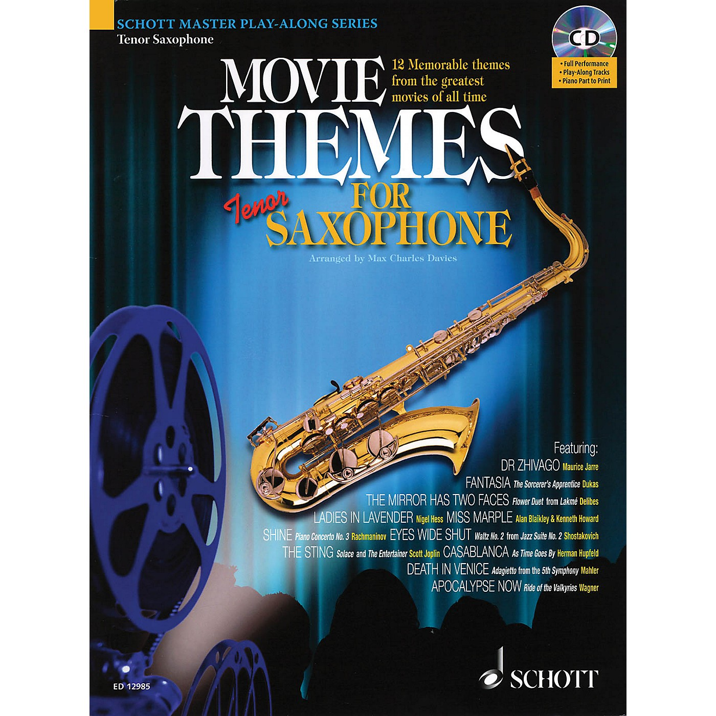 Schott Movie Themes for Tenor Saxophone Instrumental Play-Along Series thumbnail