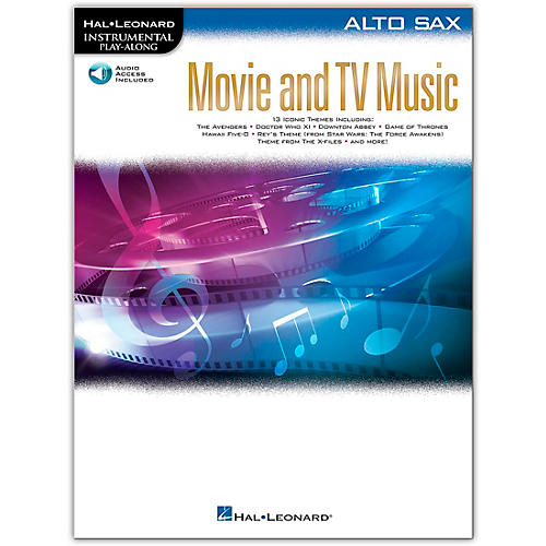 Hal Leonard Movie and TV Music for Alto Sax Instrumental Play-Along Book/Audio Online thumbnail