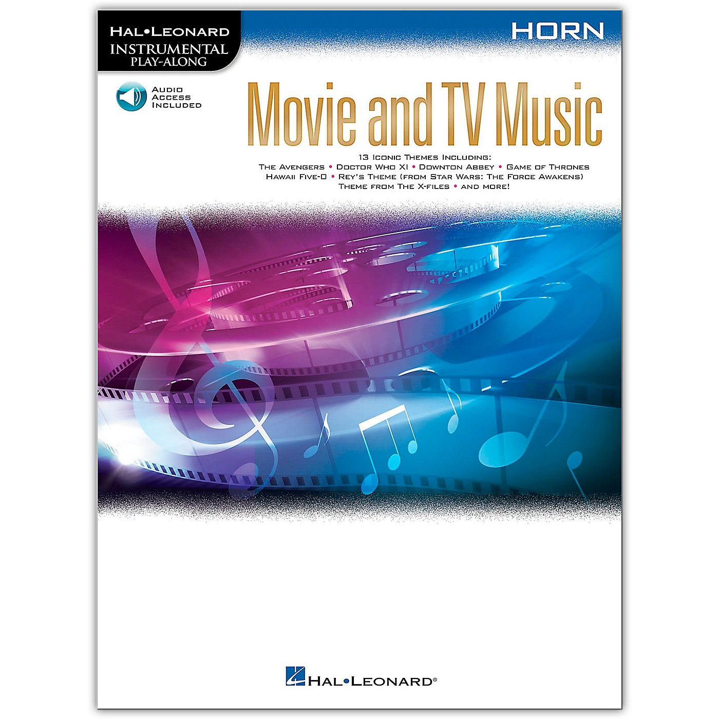 Hal Leonard Movie and TV Music for Horn Instrumental Play-Along Book/Audio Online thumbnail
