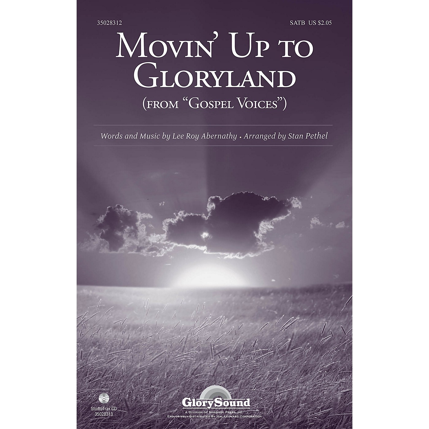 Shawnee Press Movin' Up to Gloryland (from Gospel Voices) SATB arranged by Stan Pethel thumbnail