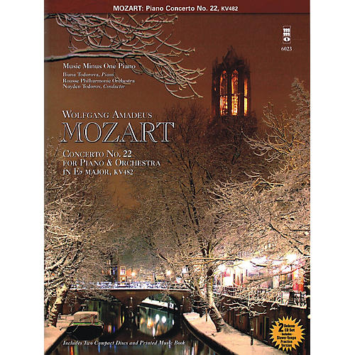 Music Minus One Mozart - Concerto No. 22 in E-flat Major, KV482 Music Minus One Series Softcover with CD thumbnail