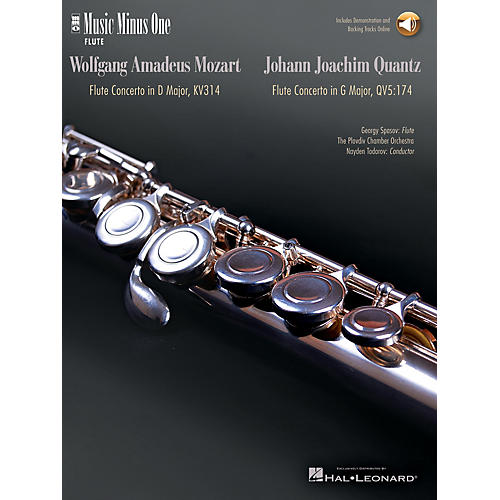 Music Minus One Mozart - Flute Concerto No. 2 in D Maj K. 314; Quantz - Flute Concerto in G Maj Music Minus One BK/CD thumbnail