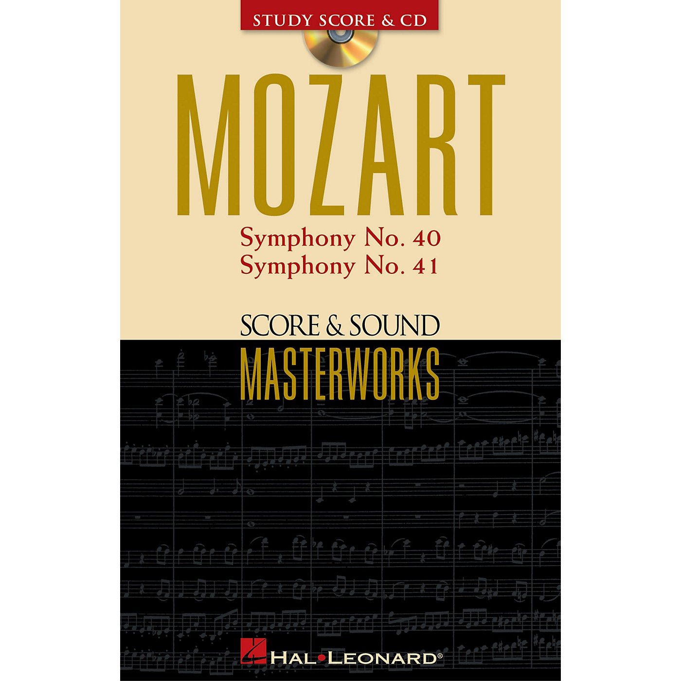 Hal Leonard Mozart - Symphony No. 40 in G Minor/Symphony No. 41 in C Major Study Score with CD by Mozart thumbnail