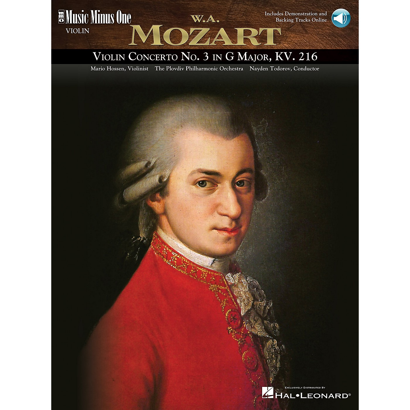 Music Minus One Mozart - Violin Concerto No. 3 in G Major, KV216 Music Minus One Series Softcover Audio Online thumbnail