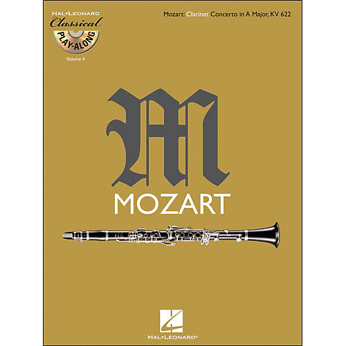 Hal Leonard Mozart: Clarinet Concerto In A Major, Kv 622 Classical Play-Along Book/CD Vol.4 thumbnail