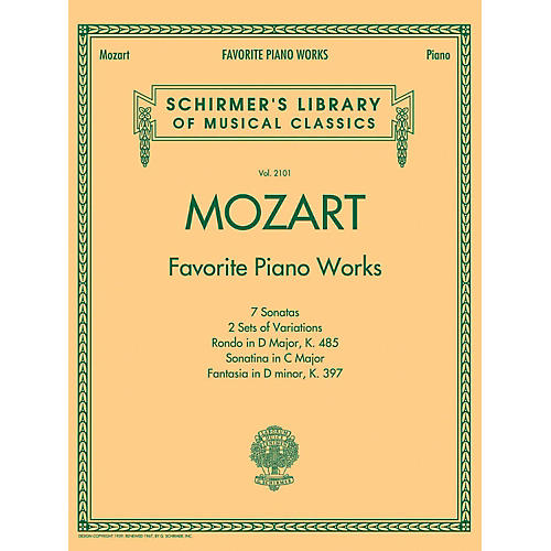 G. Schirmer Mozart  Favorite Piano Works Schirmer's Library of Musical Classics Vol. 2101 thumbnail