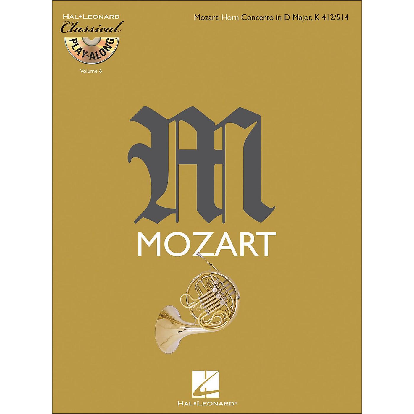 Hal Leonard Mozart: Horn Concerto In D Major, Kv 412/514 Classical Play-Along Book/CD Vol.6 thumbnail