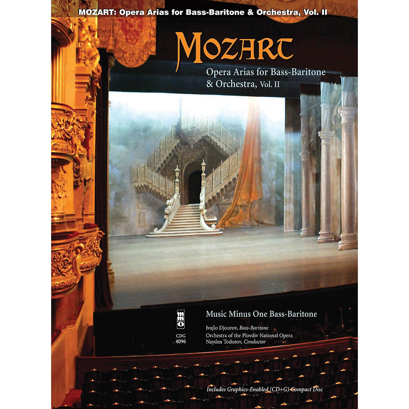 Music Minus One Mozart Opera Arias for Bass Baritone and Orchestra - Vol. II Music Minus One Softcover with CD by Mozart thumbnail