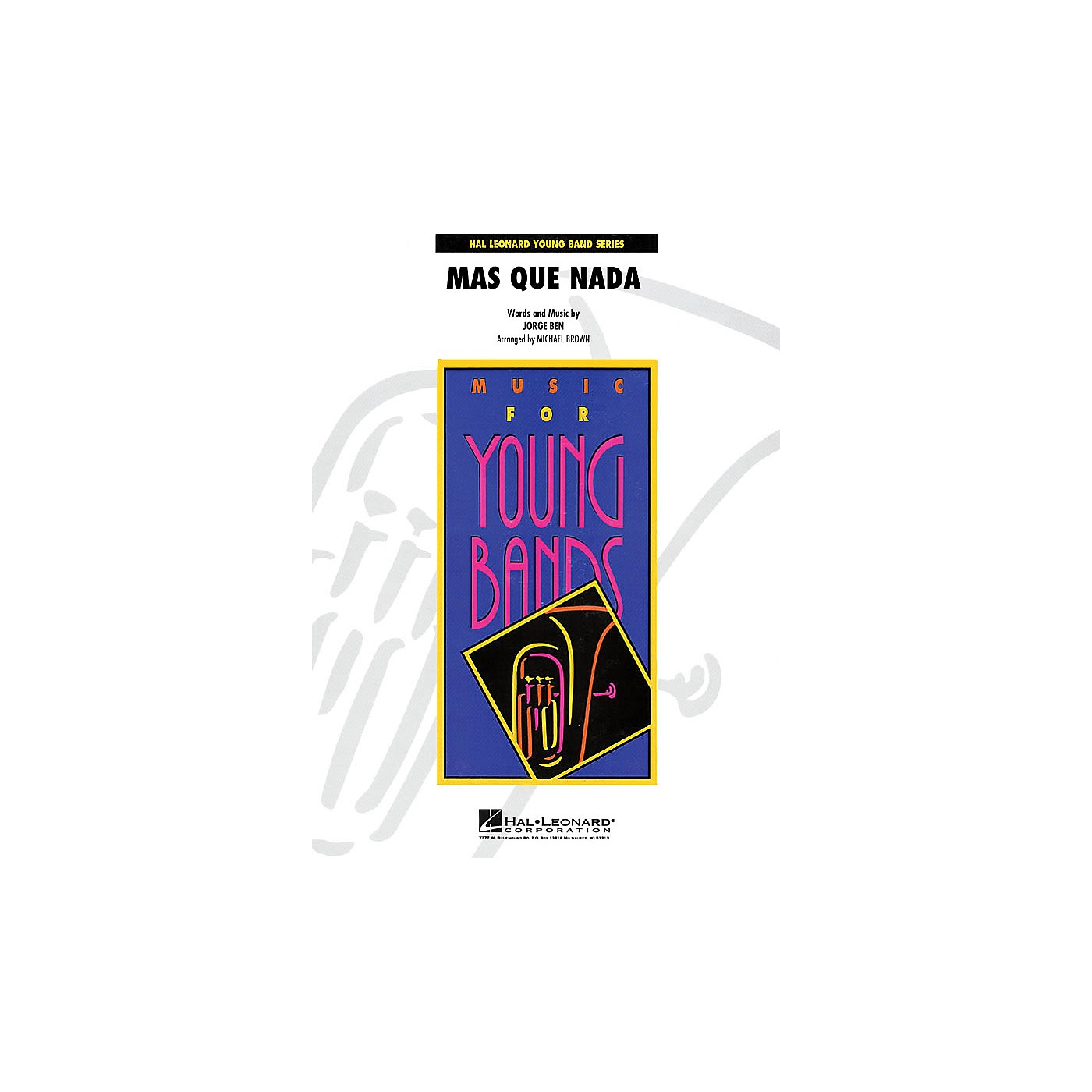 Hal Leonard Más Que Nada - Young Concert Band Level 3 by Michael Brown thumbnail